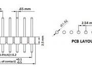 Conector-pini-tata-1×40-2,54-roboromania-dimensiuni