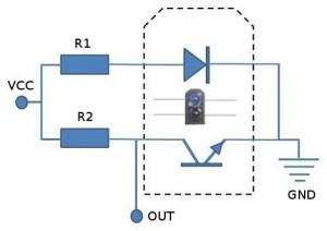 Senzor-TCRT5000-roboromania-schema