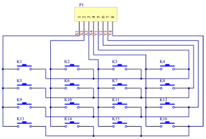 Modul-4x4-Keypad-Matrix-Buttons-roboromania-schema