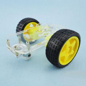 Kit-șasiu-2WD-Robot-roboromania-asamblat