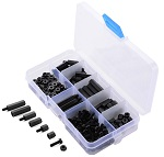 180pcs-set-m3-nylon-black-hex-screws-nuts-kit-kit-roboromania-f