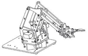 mini-robotic-arm-piese-plastic-asamblate-roboromania