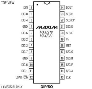 max7219-roboromania-pinouts